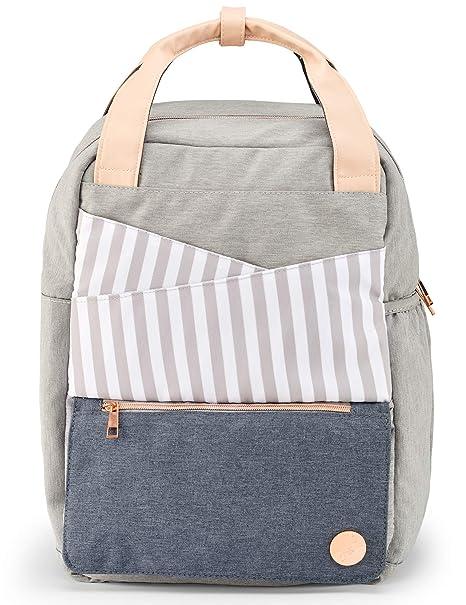 Bolso para pañales con cambiador, gran juego de bolsos para pañales con accesorios como compartimento