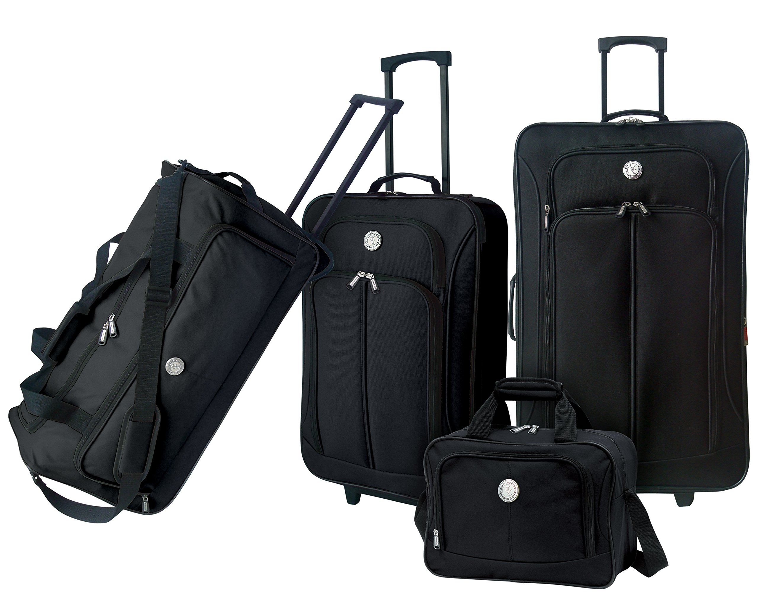 Euro Value II Collection- Deluxe 4 Piece Travel Set in Black