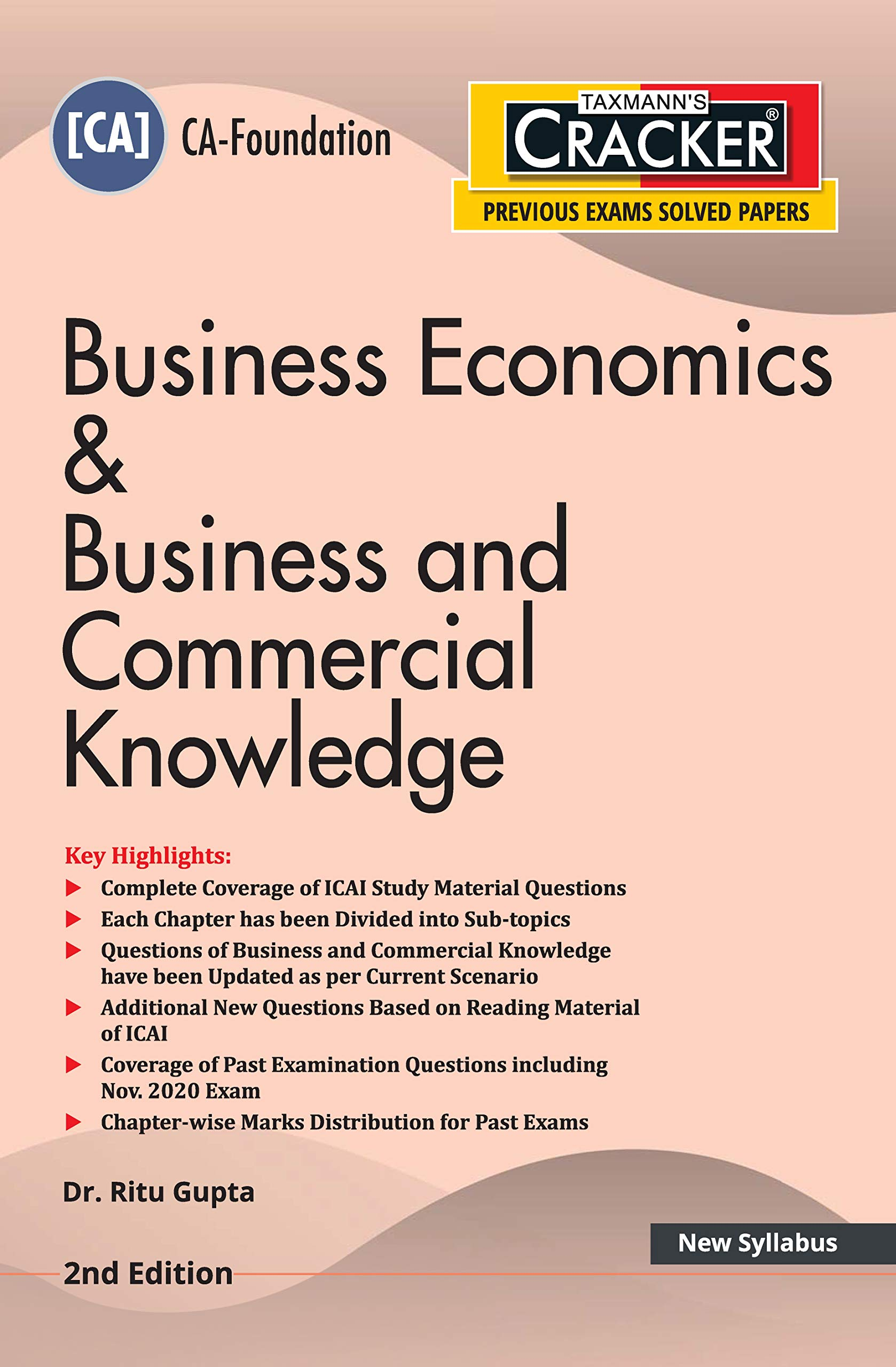 Taxmann's CRACKER – Business Economics & Business and Commercial Knowledge | CA-Foundation – New Syllabus | 2nd Edition | 2021