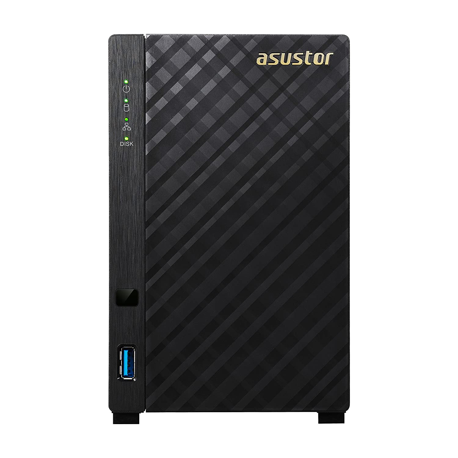 Asustor AS3102T v2 | Network Attached Storage + Free exFAT License | 1 6GHz  Dual-Core, 2GB RAM | Personal Private Cloud | Home Media Server (2 Bay