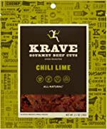 KRAVE Chili Lime Beef Jerky 4 Pack | Premium Chef Crafted