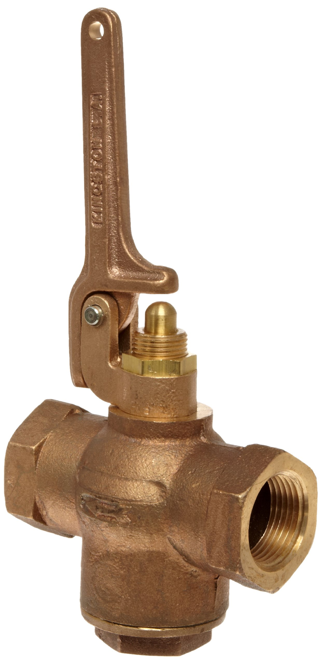 Kingston 305A Series Brass Quick Opening Flow Control Valve, Pull Lever, 1'' NPT Female
