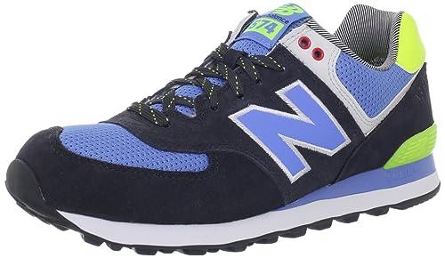 New Balance - Zapatillas de Deporte de Tejido sintético Hombre, Azul (Azul Negro), 39.5: Amazon.es: Zapatos y complementos