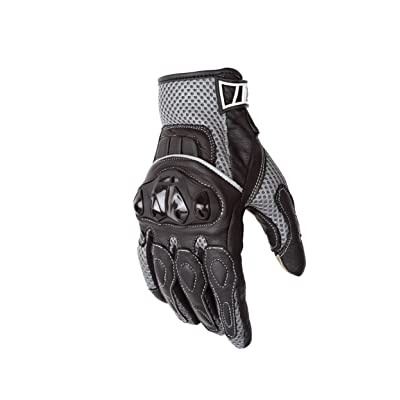 Motorcycle Biker Gloves Black Premium Summer Mesh | Touchscreen | Padded All Weather Feature for Men and Women | Breathable Moisture Wick Air Flow Technology | VENTURE (Sm): Automotive