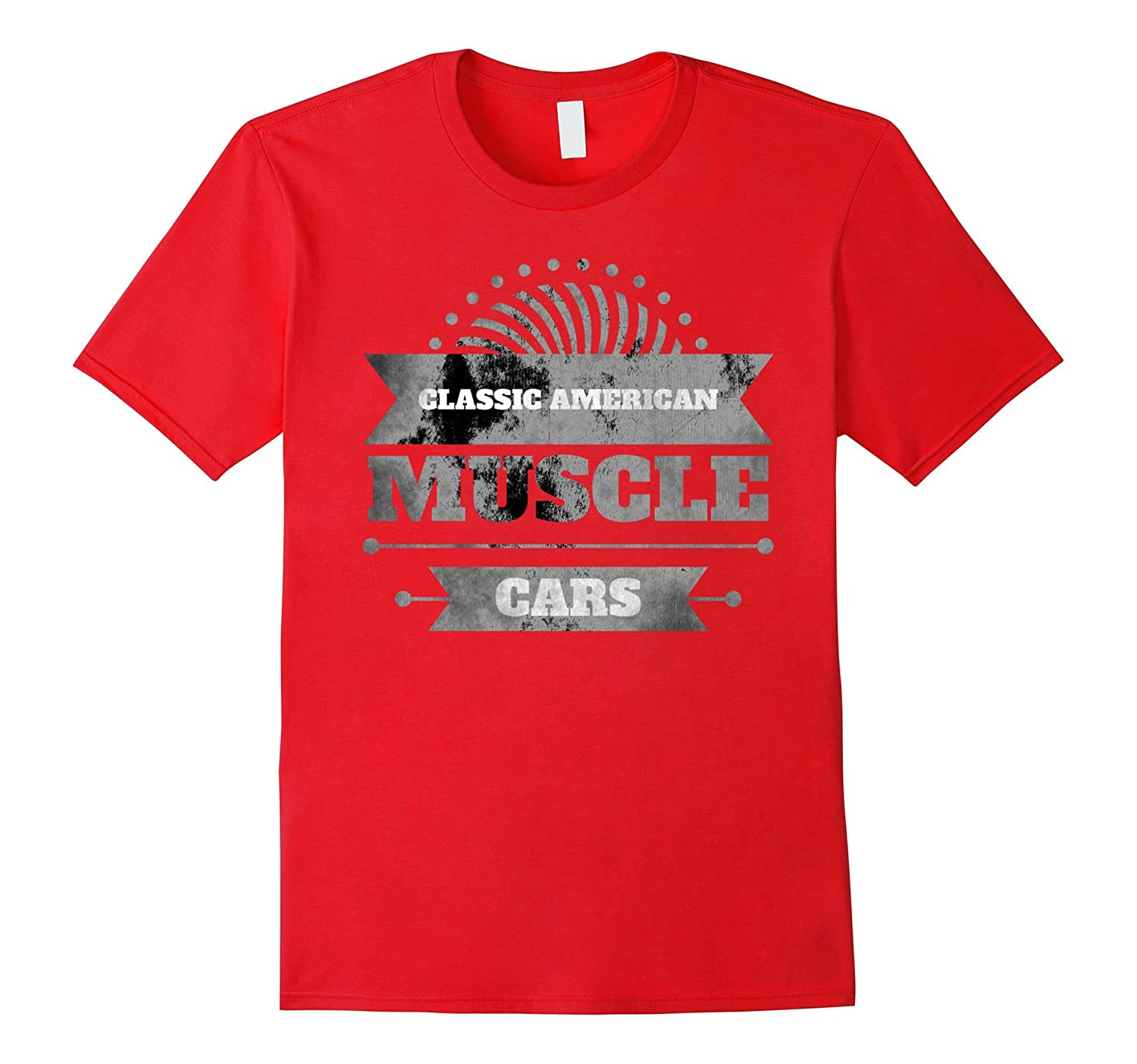 Classic American Muscle Cars Vintage Distressed T-shirt-FL