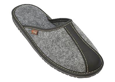 BeComfy Pantoufles en Feutre pour Hommes   Ultra-Léger   Chaussures avec  des Semelles en 4edba6426e47