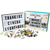 Cinema Light Box with Letters - Vintage Cinematic Light Up Message And Note Sign With 240 Letters, Numbers, Symbols…