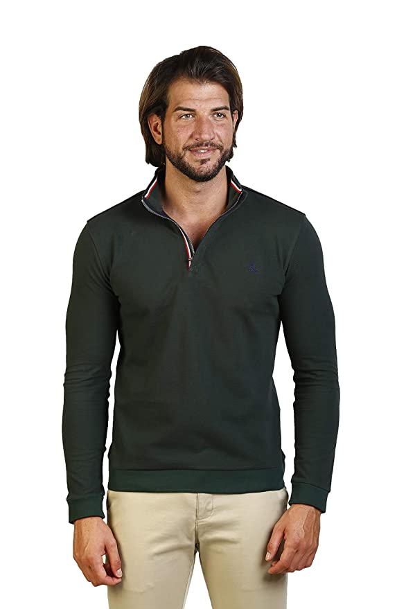 THE TIME OF BOCHA Polo Hombre JI1PHIERRO-Verde Talla S: Amazon.es ...