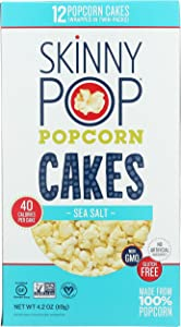 Skinny Pop Skinnypop Sea Salt Popcorn Cakes, Healthy Snacks, 4.2oz, 4.2 Oz