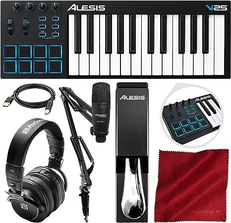 Alesis V25 - Controlador de teclado USB MIDI de 25 teclas y ...