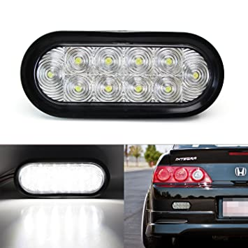 IJDMTOY Super Bright JDM Style Clear Lens 10 LED Backup Reverse Lamp Assy  For Acura