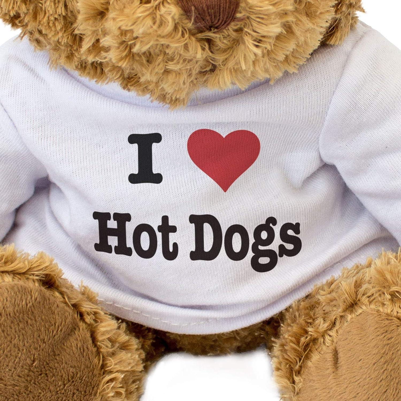 Teddy Bear Gift Present Birthday Xmas London Teddy Bears . Cute Soft Cuddly I Love HOT Dogs