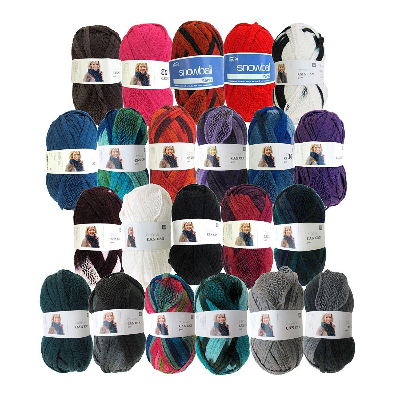 BambooMN Fancy Ruffle Scarf Yarn - Frilly Yarn Scarves Shawls - 200g - 100% Acrylic Yarn - Surprise Pack - 8 Skeins