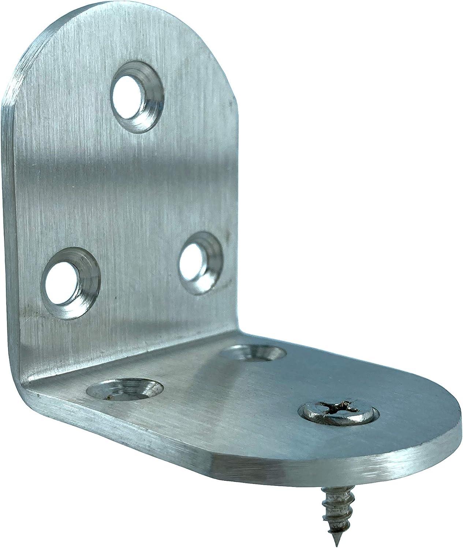 BCQLI 4 PCS 2x1.5 inch 90 Degree Metal Right Angle Bracket Shelf Support,Stainless Steel Corner