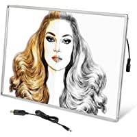 Wsdart A2 LED Light Pad - Large Size Aluminum Alloy Diamond Painting Light Board, USB Drawing Board with Detachable Side…