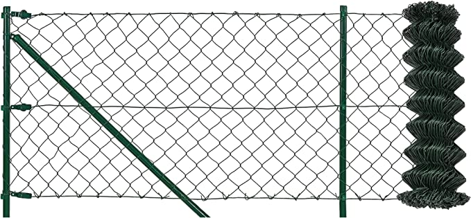 vidaXL Alambre de Atar Vallas 25 m 1,4//2 mm Acero Galvanizado PVC Verde Cable