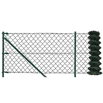 pro.tec] Maschendrahtzaun Komplettset grün verzinkt (80cm x 15m ...