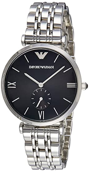 3ba73331f0 Buy Emporio Armani Analog Black Dial Unisex Watch - AR1676I Online at Low  Prices in India - Amazon.in