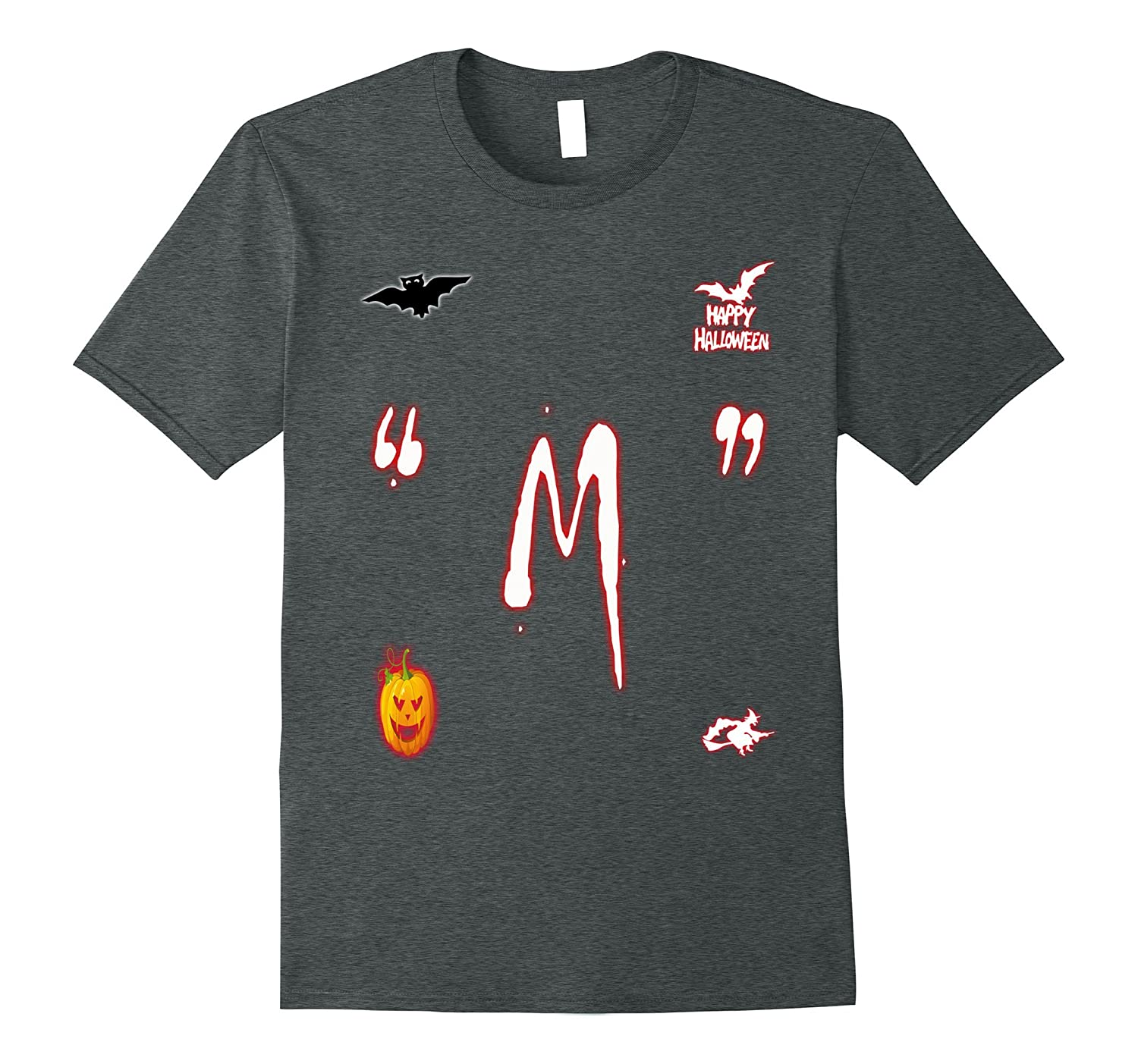 M Candy Letter T-Shirt Easy Halloween Costume T-shirt-T-Shirt