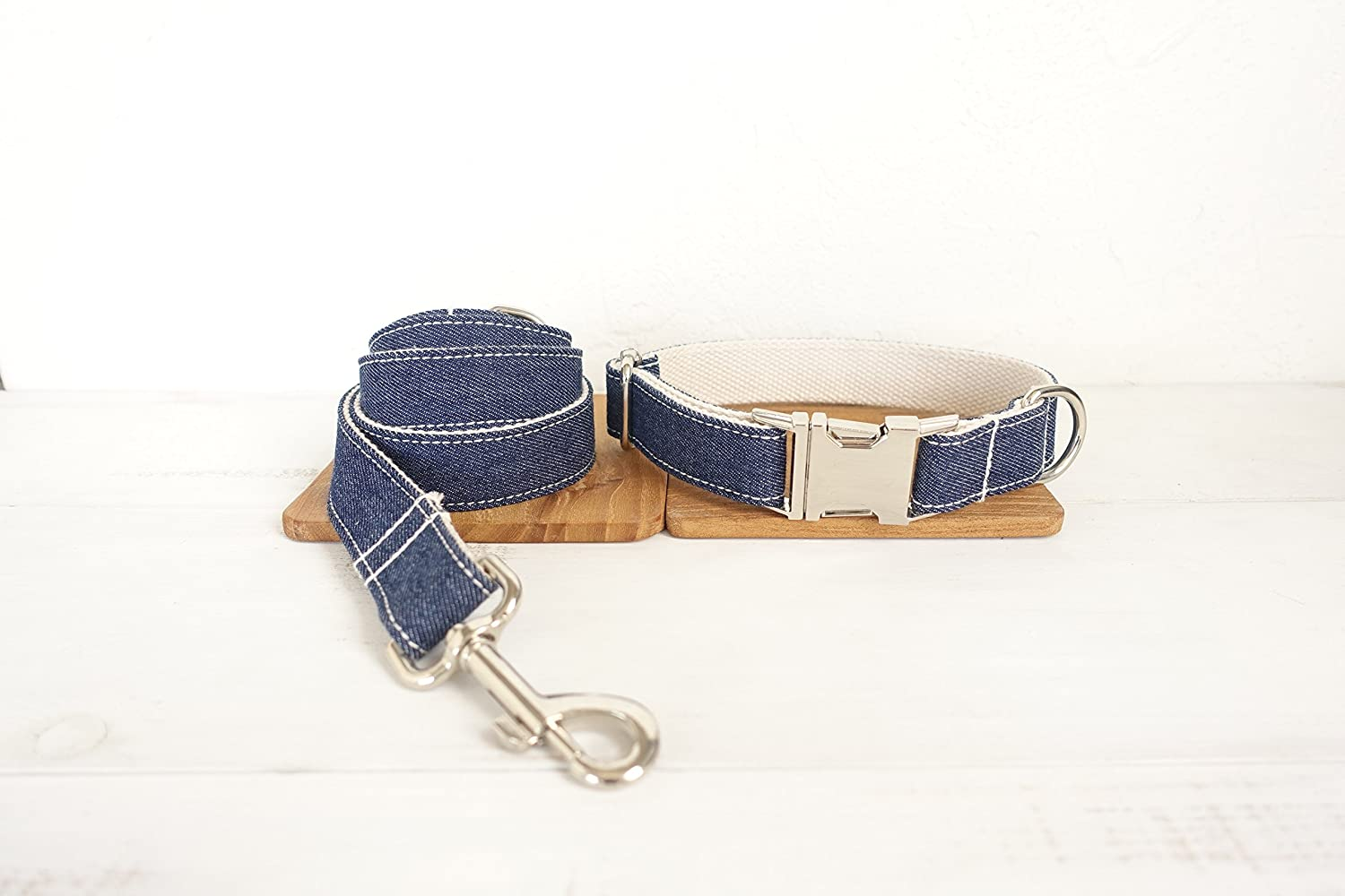 Amazon.com : Mew Denim pet dog circled blue rope/dog ring suit, Metal buckles new (XL) : Pet Supplies