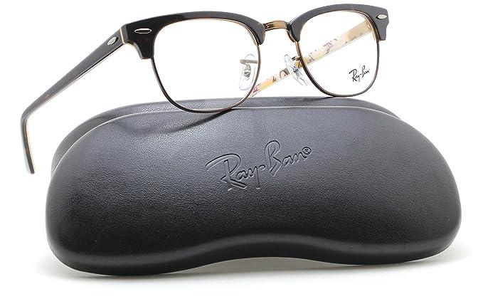 3f5e1ffbbf Ray-Ban RX5154 Clubmaster Optics Prescription Glasses 5650 - 49  Amazon.co. uk  Clothing