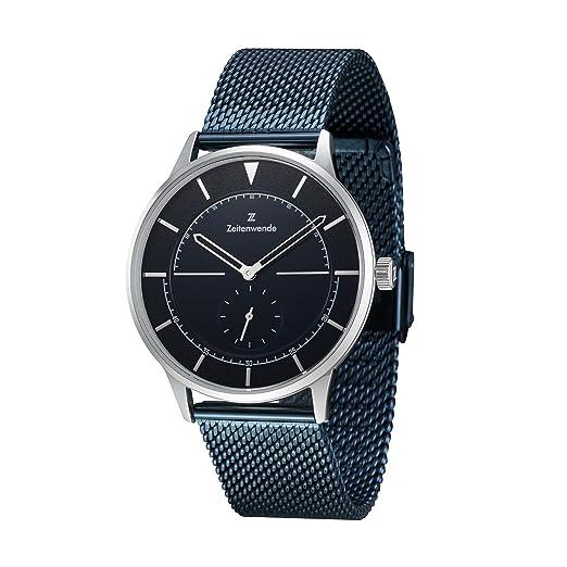 Reloj de acero para hombre / Color Azul / Elegante y sencillo / Garantía de 2 años / Envuelto en caja de regalo: Amazon.es: Relojes