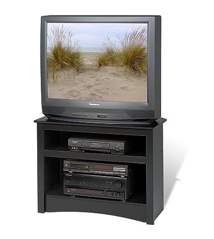 Top Amazon.com: Prepac Black Corner TV Stand: Kitchen & Dining XO45