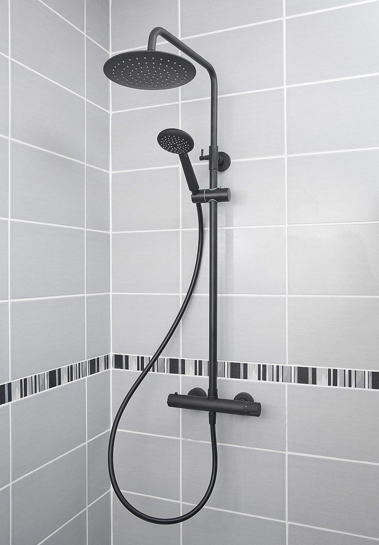 EUROSANIT Colonne de douche mitigeur thermostatique dervenn noire