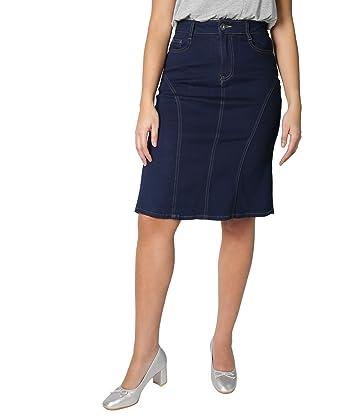 KRISP® Jupe Courte Jean Mode Femme  Amazon.fr  Vêtements et accessoires f8f5149c3557