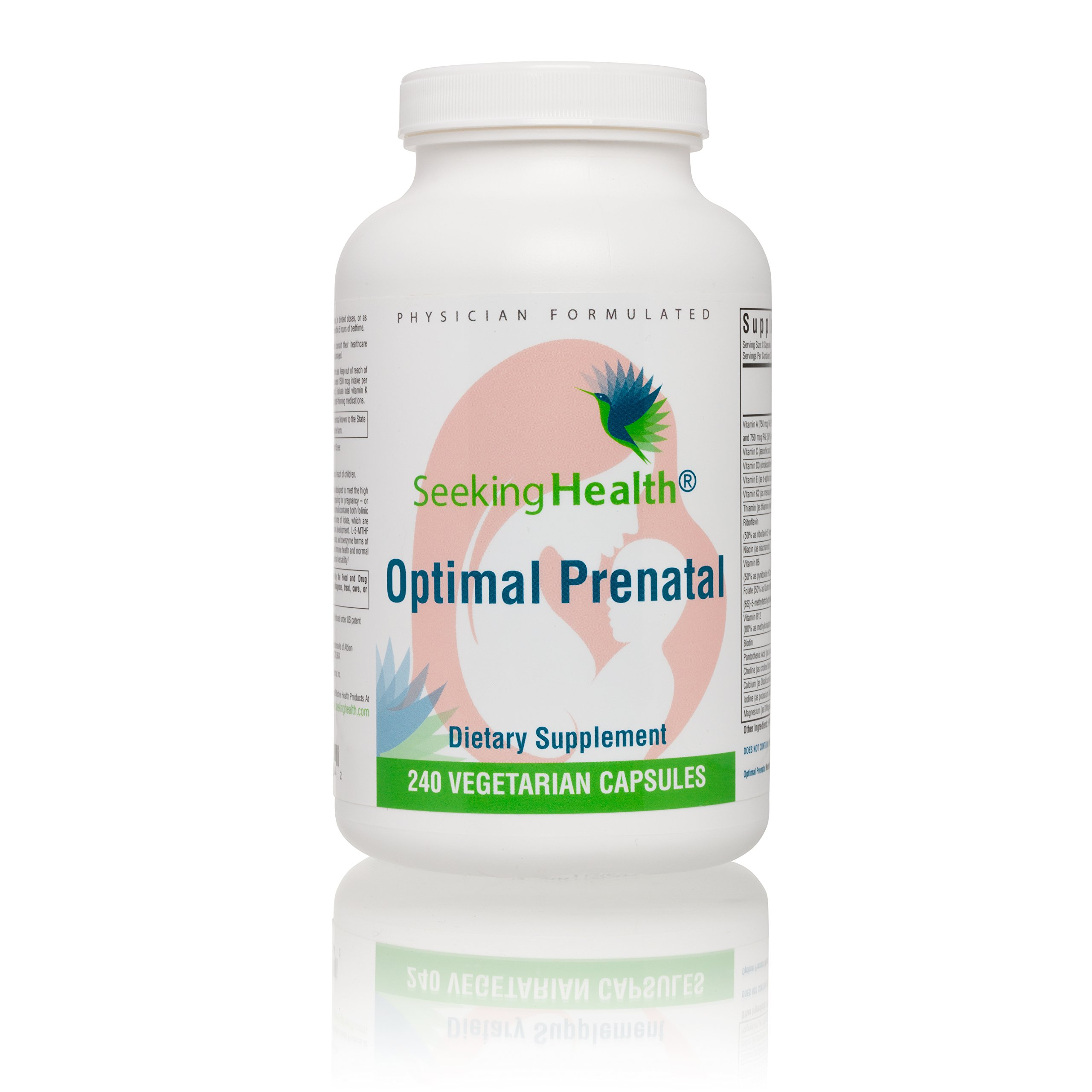 Seeking Health | Optimal Prenatal | Prenatal Vitamins for Women | 240 Vegetarian Prenatal Vitamins