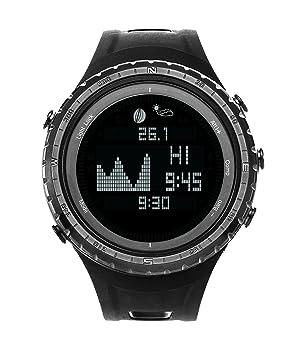Smart Digital Pesca Deportiva reloj con marea, barómetro, altímetro, brújula, termómetro,