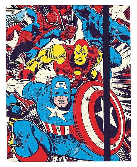Grupo Erik Editores CBK0005 - Carpeblock con 4 anillas Marvel Comics, 32 x 27.5 cm