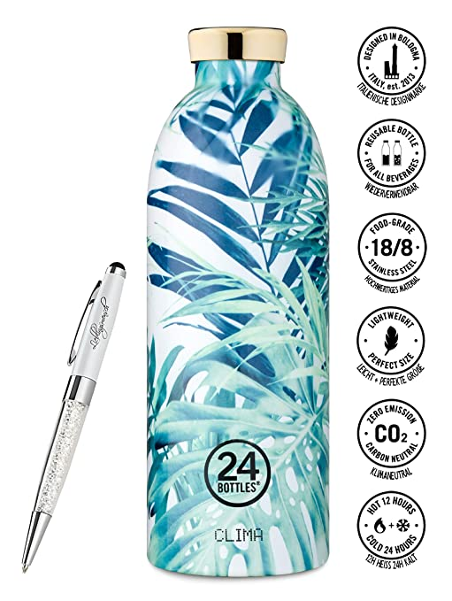 24 Bottles Trinkflasche Clima 330 ml | 500 ml | 850 ml versch. Farben inkl. Lieblingsmensch Kugelschreiber, Größe:850 ml, Far