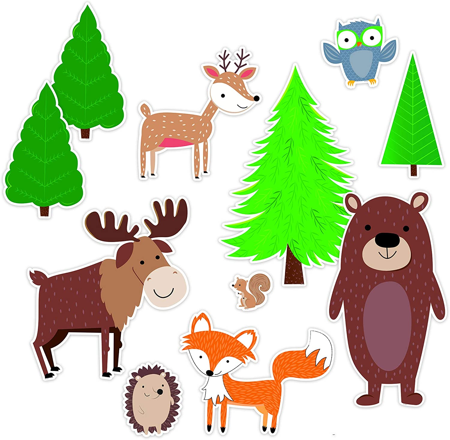Creative Teaching Press Jumbo Woodland Friends Bulletin Board (Room Displays and Decoration for Classrooms, Learning Spaces and More), Multi (8689)