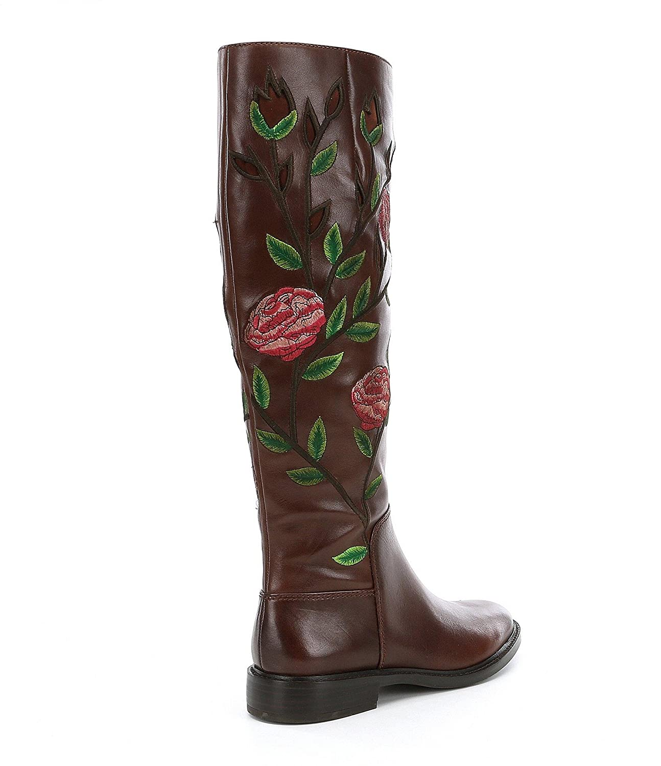 95117269995a4 Amazon.com | Gianni Bini Women's Myala Floral Embroidery Leather Wide Shaft  Boot, Size 8M Dark Crimson | Knee-High