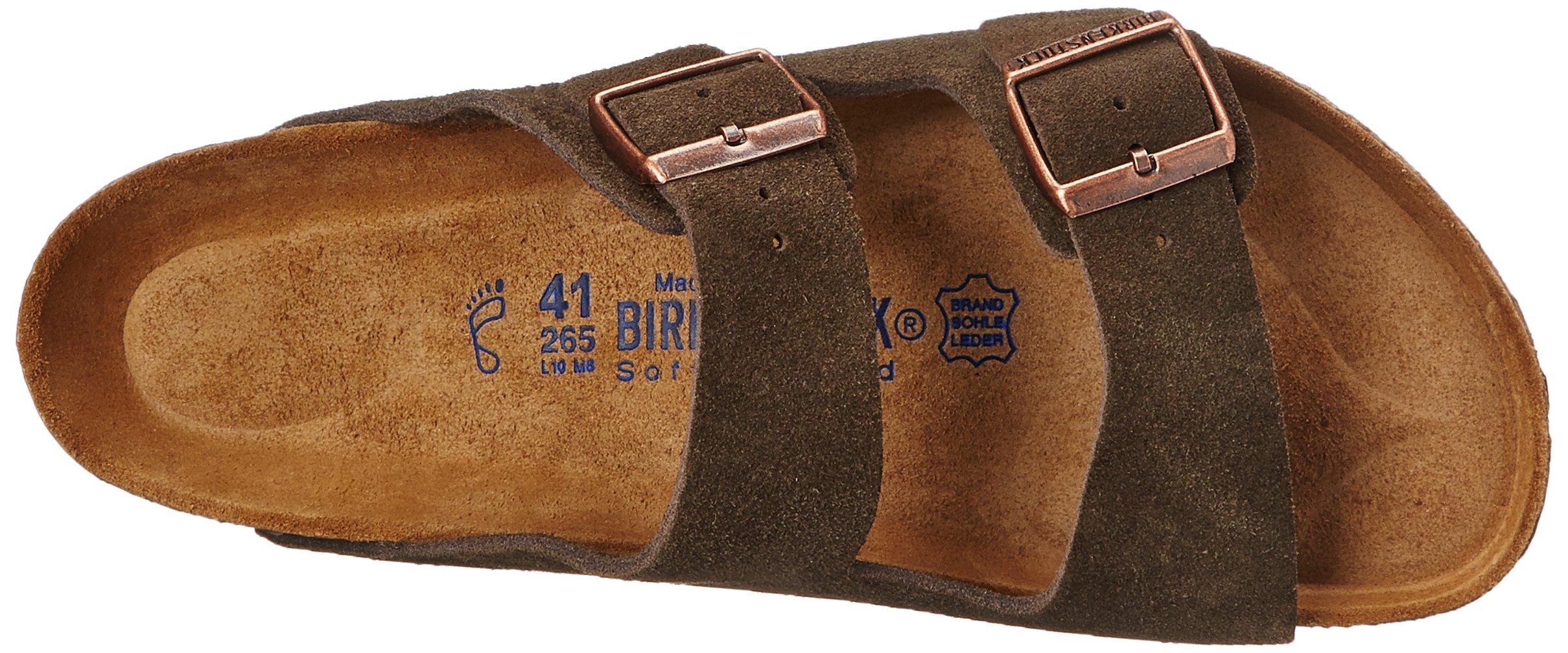 Birkenstock Unisex Arizona Mocha Suede Sandals - 35 N EU / 4-4.5 2A(N) US by Birkenstock (Image #8)