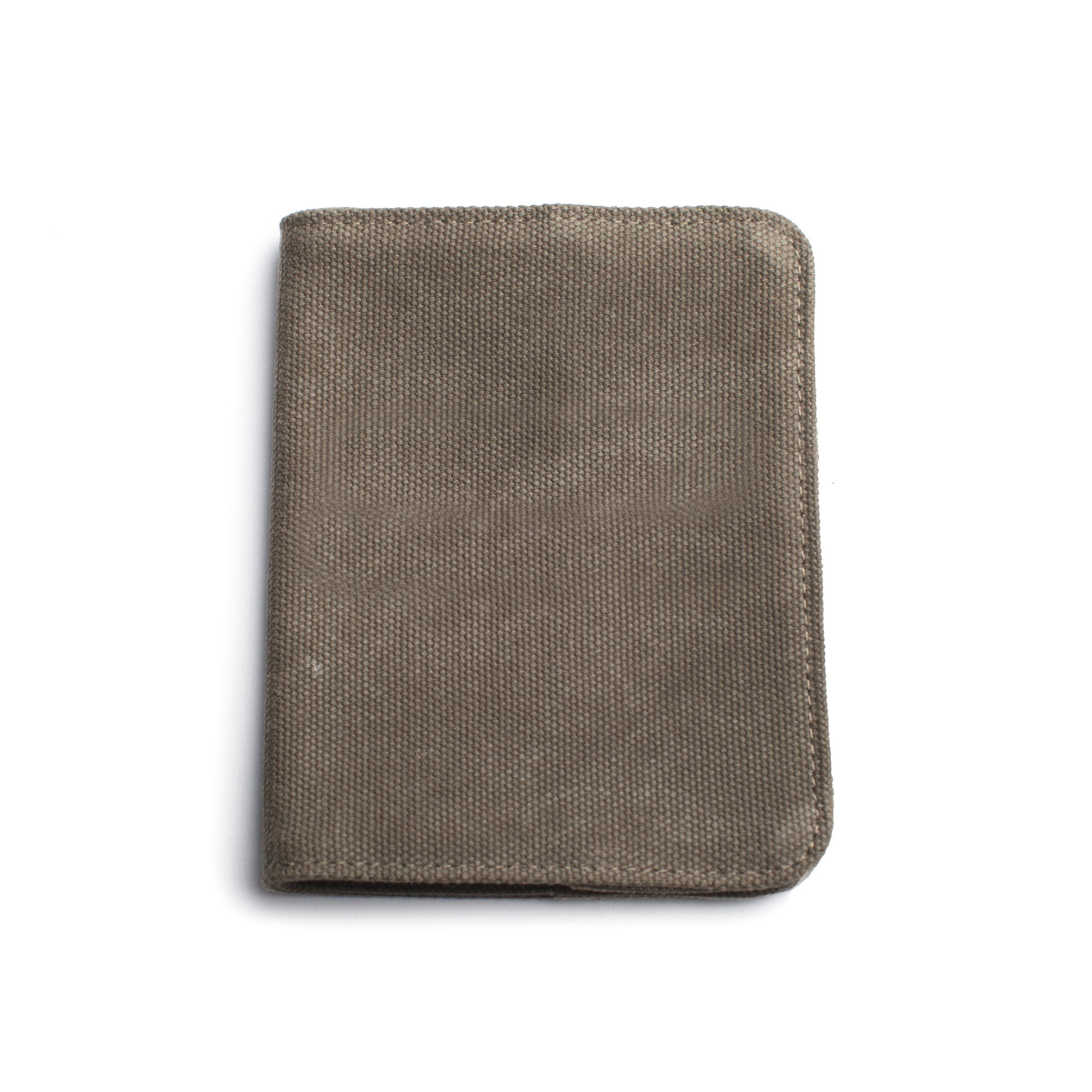 Izola Canvas Travel Passport Wallet with Card Slots Organizer - Blank - Olive