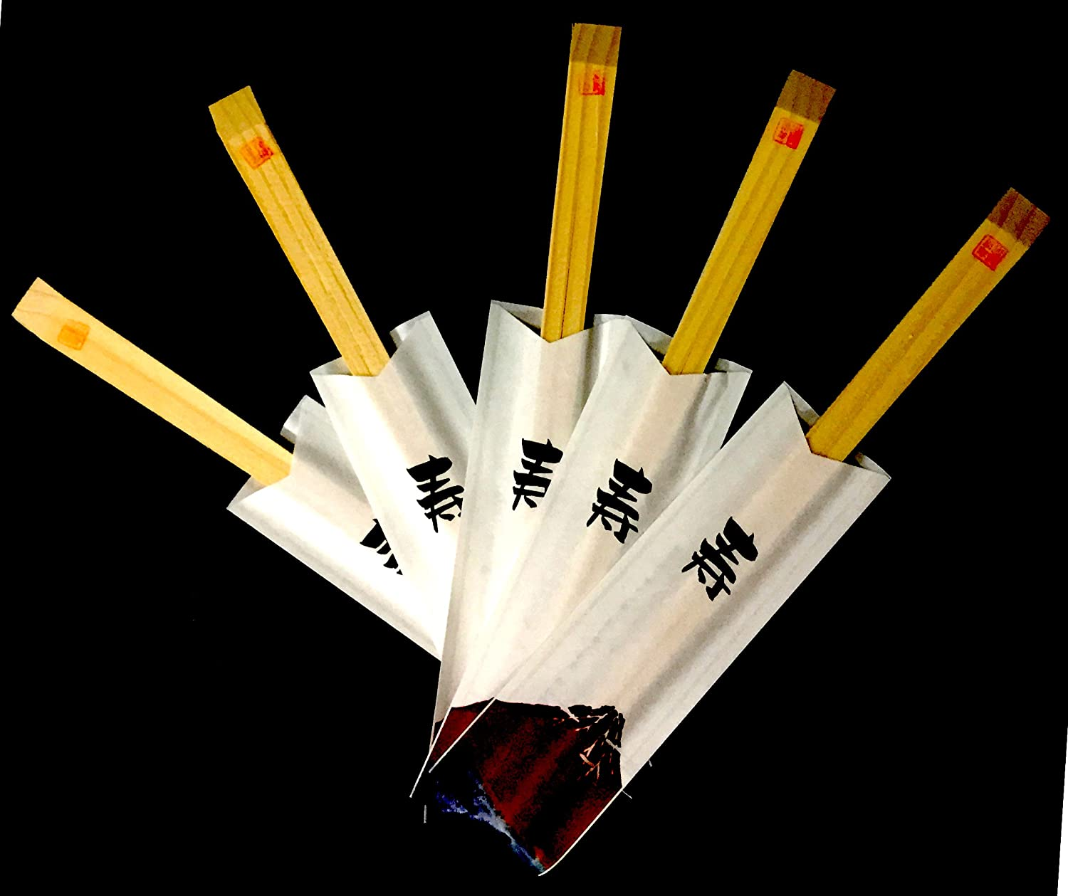 Made Hokkaido Local Abies X 50 Pairs Japanese Disposable Mt Fuji Designed Chopsticks Special Occasions Celebration