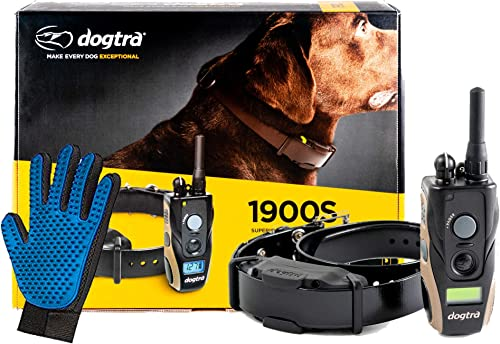 Dogtra 1900S Dog Training Collar with Remote -3 4 Mile Range Dog Locator – Includes Extreme Consumer Products Soft Silicone Pet Grooming Glove