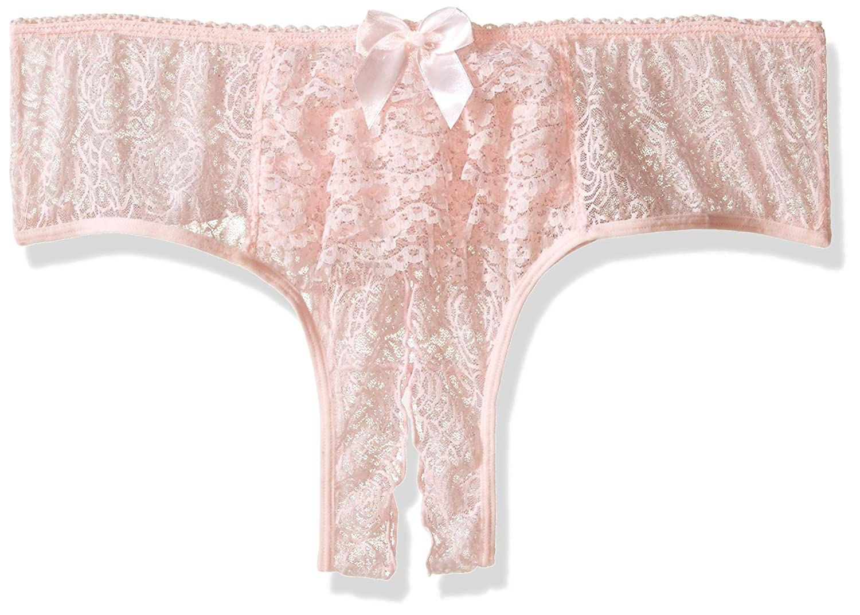 8d113d6aa Dreamgirl Womens Plus-Size Ruffle Back Crotchless Panty Dreamgirl  International 1300X