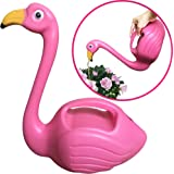 Flamingo Watering Can Decorative Elegant Pot For Indoor Outdoor House Plants Easy Pour Small Size Plastic 1.5L By DecoDuke