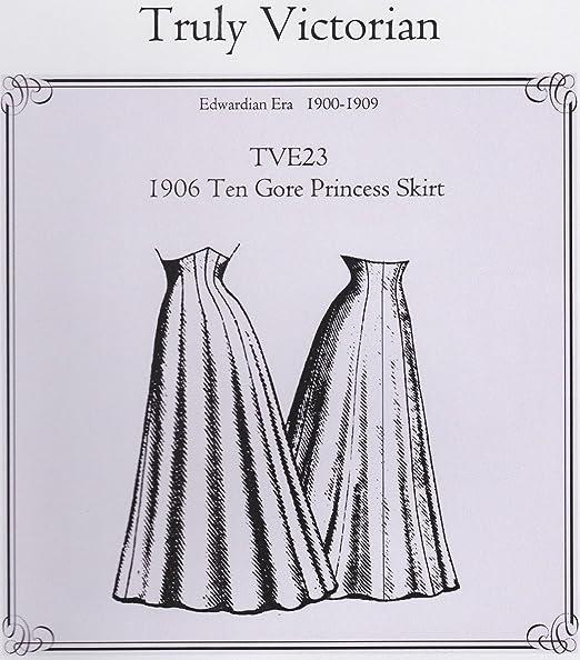 Truly Victorian TVE23-1906 - Patrón de costura para falda de ...