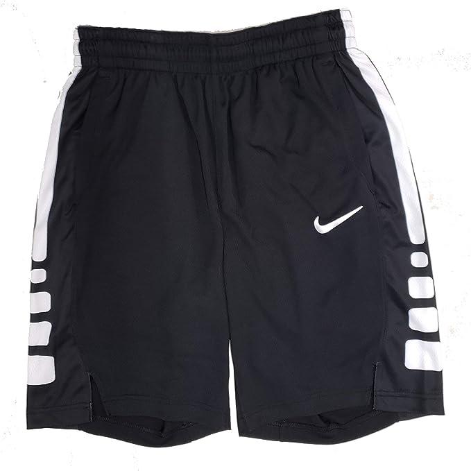 Nike Dry Men's Dri-Fit Elite Basketball Shorts Black White AT3393 010