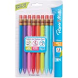 Paper Mate 1862168 Mates 1.3mm Mechanical Pencils, Assorted Colored Barrels, 8-Count