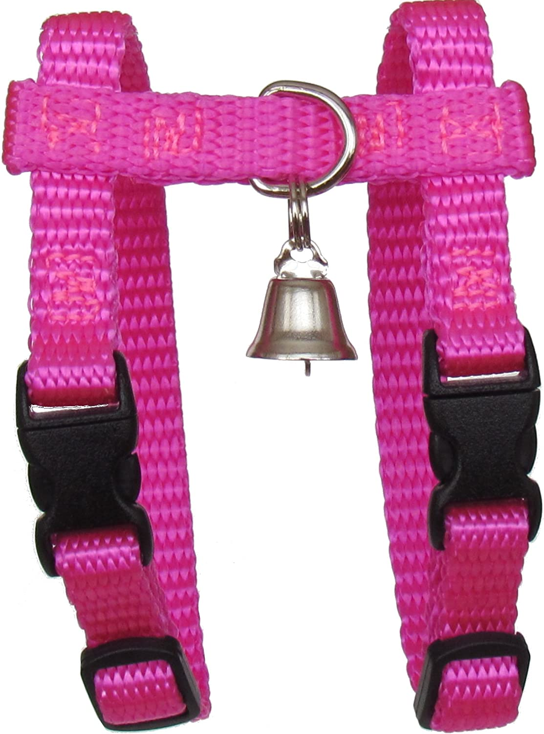Adjustable Sandia Pet Products 3//8 REGULAR Red Ferret Harness with Bell