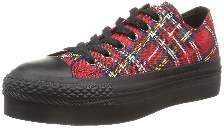 Converse A/S Ox Platform Textile -, Homme, Multicolore (Red Tartan/Black), Taille 39