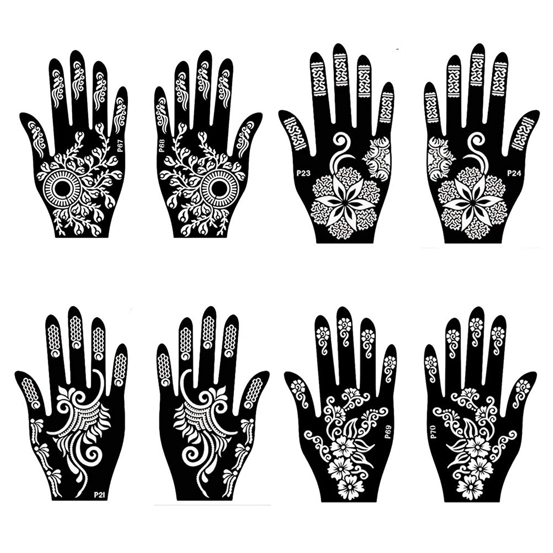 Ivana's Tatto Stencil for   Hand   Body   Face   Art Template   Heena Art Temporary Tattoo for Girls , Women & Kids – Design 70