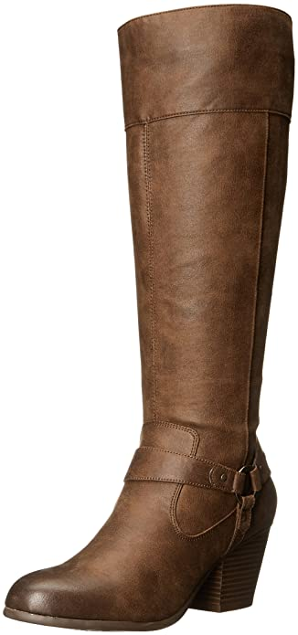 A2 by Aerosoles Womens Creativity Riding Boot Mid Brown Combo