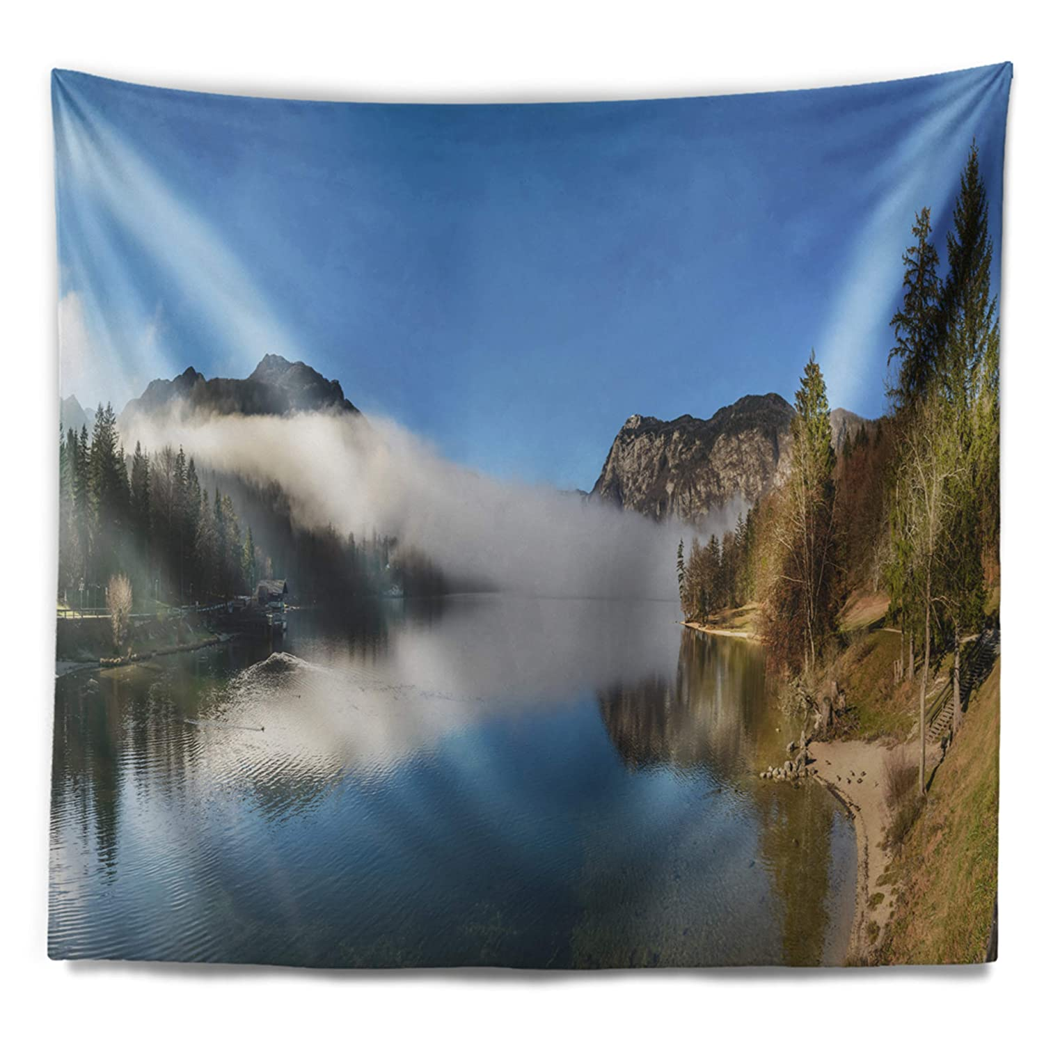 60 in Designart TAP14731-60-50  Bohinj Lake Panorama Seashore Blanket D/écor Art for Home and Office Wall Tapestry Large x 50 in Created On Lightweight Polyester Fabric