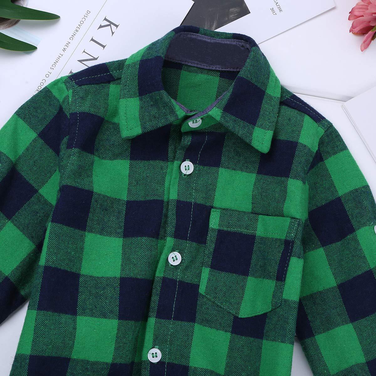 Freebily Chemise de Bapt/ême B/éb/é Gar/çon Fille Coton T-Shirt /à Carreaux Manches Courtes Boutons Combinaison B/éb/é Body Barboteuse de Soir/ée C/ér/émonie Grenouill/ères 9-24 Mois